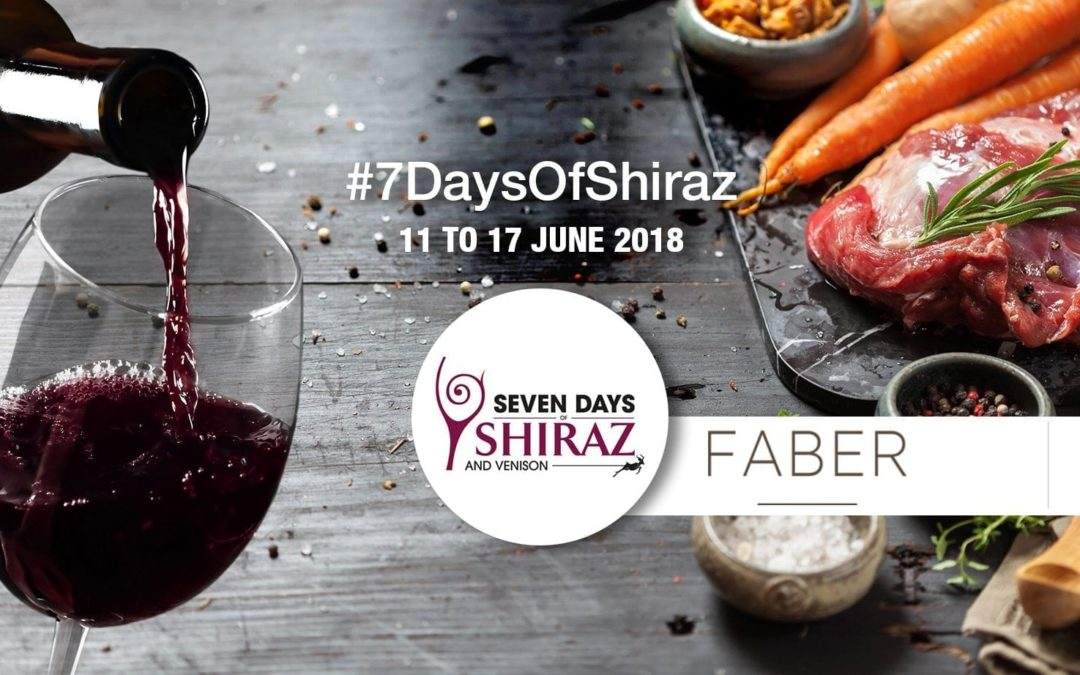 Shiraz and Venison Week at FABER restaurant – 13th to 16th June 2018